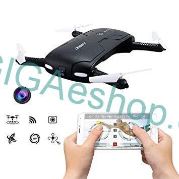 SMART DRON A-FLY WIFI - KAMERA (Smart drone - 4 kanálový kapesní dron, 6osý gyroskop, HD kamera, skládací konstrukce, WiFi, dosah 40m, výdrž 7-8min, doba nabíjení 120min)